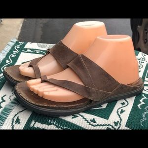 Brown Merrell Sandals Slip On Select Grip Shoes
